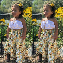 Load image into Gallery viewer, White Tube Top with Sunflower Bottom (1 - 5 Y)