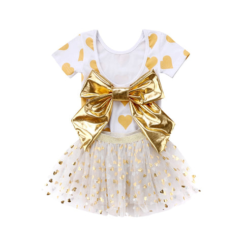 New Fashion Baby Girls Bow Romper & Tutu Skirt (3 - 24 M)