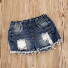 Load image into Gallery viewer, Buttoned Lantern Top + Denim Shorts