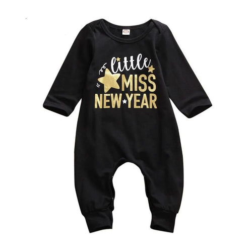 Little Miss New Year Star Jumpsuit