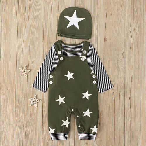 Cotton 3 Piece Starry Outfit
