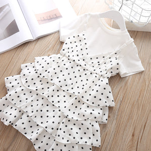 Dotted Frilly Frock & Cotton Tee