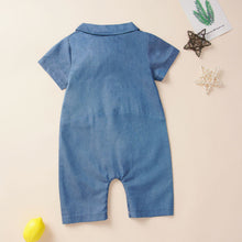 Load image into Gallery viewer, Light Denim Cloth Jumpsuit - Age: 3 to 24M