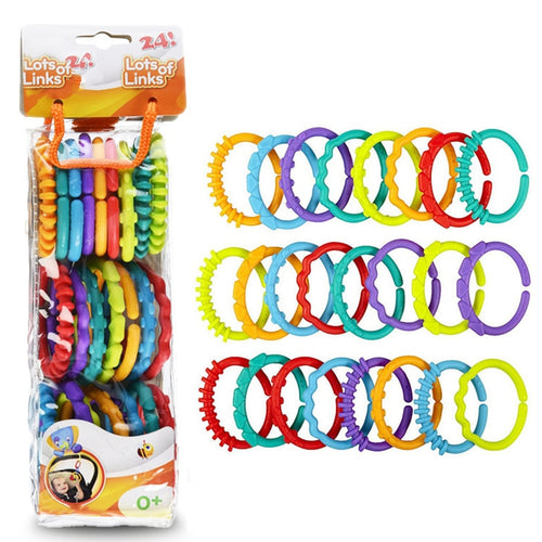 Rattles Rainbow Teether Rings