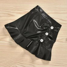 Load image into Gallery viewer, Buttoned Highneck Top + Leather Skirt - Sizes: 1 to 5 Years