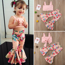 Load image into Gallery viewer, Short Slim Tank Top + Floral Pant (9 M - 4 Y)