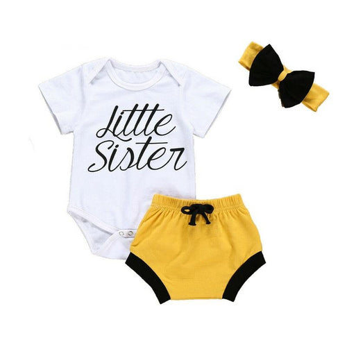 3 Piece Little Sister's Bold Set (0 - 12 M)