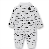 Baby Romper Suit for Gentlemen  White (0-18 M) - GoFancy