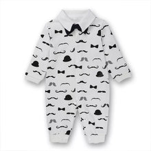 Load image into Gallery viewer, Baby Romper Suit for Gentlemen  White (0-18 M) - GoFancy