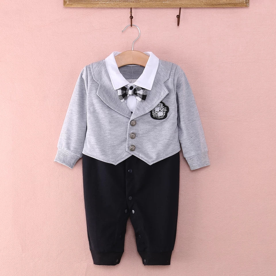 Bold Buttoned Suit - Sizes: 3 to 18 Months