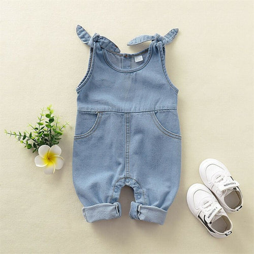 Unisex Baby Jeans Overall