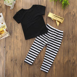3 Piece #Flawless Top + Trouser + Band (6 - 24 M)