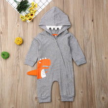Load image into Gallery viewer, The Orange Dino Jumpsuit (6 - 24 M)