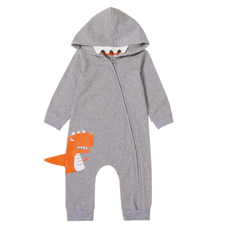 The Orange Dino Jumpsuit (6 - 24 M)