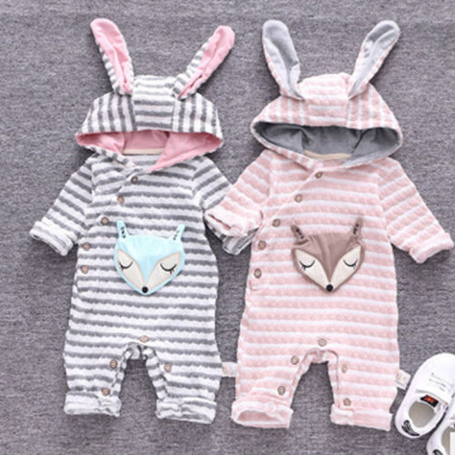 Amazing Trendy Hooded Jumpsuit (0 - 18 M)