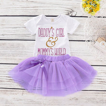 Load image into Gallery viewer, Daddy's Girl Mommy's World Outfit (0 - 12 M)