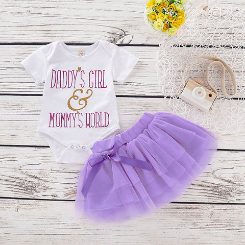 Daddy's Girl Mommy's World Outfit (0 - 12 M)