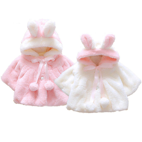 Bunny Eared Hooded Poncho (3 - 18 M)