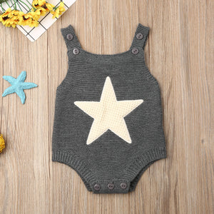 Star vs Heart Knitted Rompers