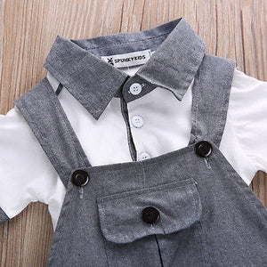 Daring Dungaree with Gentleman's Polo Top (3 - 18 M)
