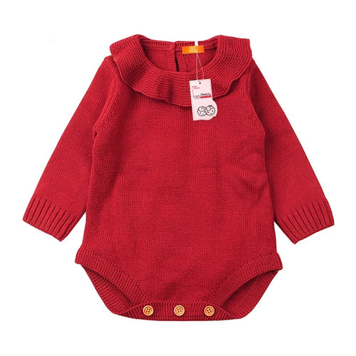 Knitted Full Sleeve Comfy Romper (0 - 12 M)