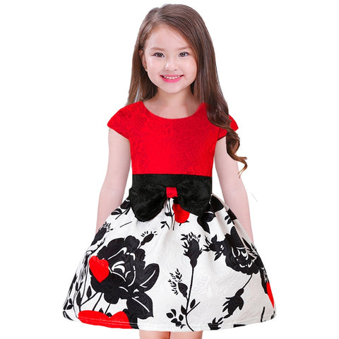 Fancy Red and Black Little Girls Dresses (2-9 Y) - GoFancy