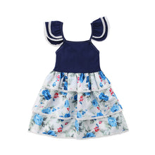 Load image into Gallery viewer, Floral Pageant Tiered Mini Frock (6 M - 3 Y)