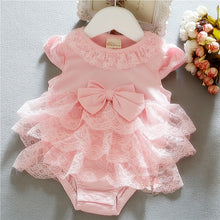 Load image into Gallery viewer, 1pc Newborn infant Baby clothes girls wedding daily photo shooting bodysuit cotton jumpers summer 3 6 9M baby playsuit
