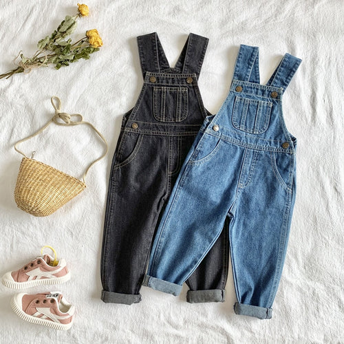 Vogue Denim Dungaree Suspenders - Size Range: 6 Months to 4 Years