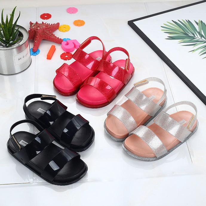 Crystal Styled PVC Sandals - Size Range: (In Sole 14cm - 18cm)