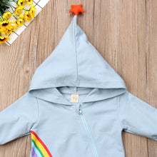 Load image into Gallery viewer, Rainbow Star-Hooded Jumpsuit - Size Range: 3 to 18 Months