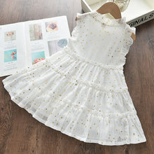 Load image into Gallery viewer, BINIDUCKLING Star Dress Kids Girls Layered Dress For Summer 2020 Sleeveless Ruched Bowknot Children Girls Fashion Dresses