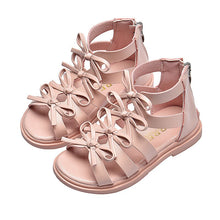 Load image into Gallery viewer, New Girls Sandals Summer Fashion Gladiator Cut-Outs Bowtie Leisure Princess Shoes Comfortable Breathable Soft Kids Rome Sandals