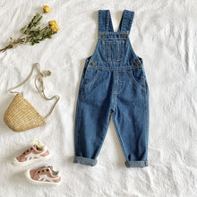 Load image into Gallery viewer, Vogue Denim Dungaree Suspenders - Size Range: 6 Months to 4 Years