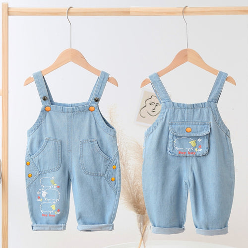IENENS Baby Overalls Toddler Clothes Boy Girl Jumpsuit Playsuit Infant Denim Jeans Dungarees Spring Autumn Pants