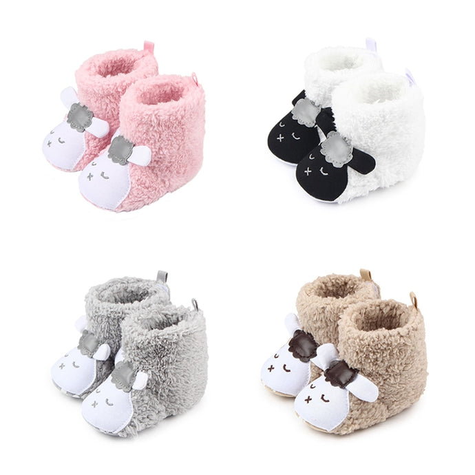 Cute Sheep Woolen Booties - Size Range: 0 to 18 Months