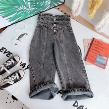 Load image into Gallery viewer, High Waist Wild Wide Jeans - Size Range: 2 to 7 Years