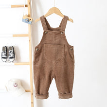 Load image into Gallery viewer, Unisex Fashion Corduroy Jumpsuits - Size Range: 6 Months to 3 Years
