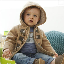 Load image into Gallery viewer, Warm Faux Leather Fleece Coat (9M - 4Y)