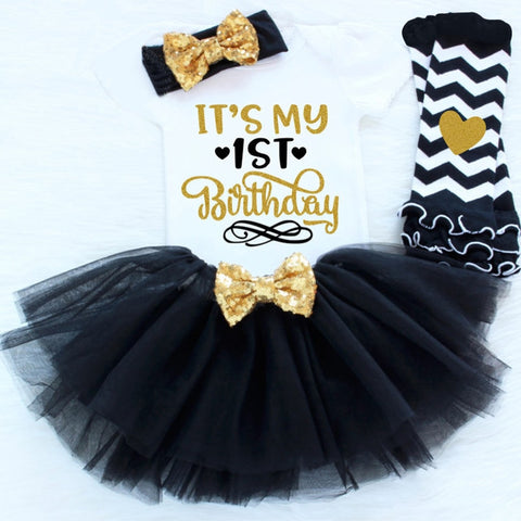 It's my 1st Birthday Elegant Princess 4 Piece Outfit (12 - 18 M)