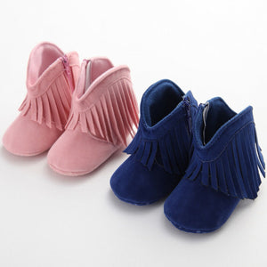 Soft Sole Tassel Moccasin Boots (0 - 15 M)