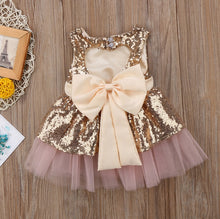 Load image into Gallery viewer, Sequined Big Back Bow-knot Dress (3 - 24 M)