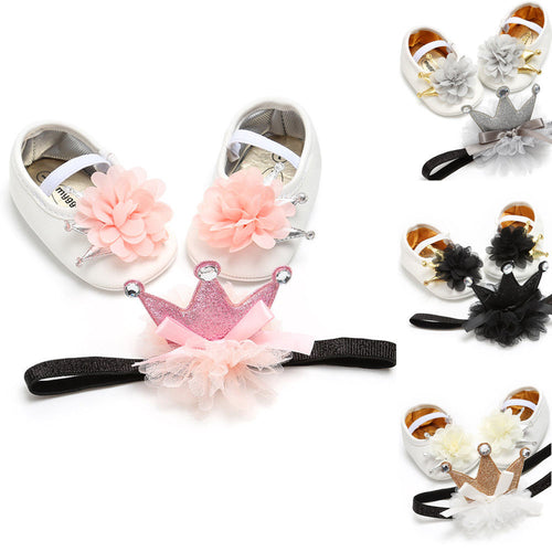 The Princess Shoes & Crown Band Set (0 - 15 M)