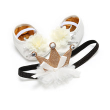 Load image into Gallery viewer, The Princess Shoes & Crown Band Set (0 - 15 M)