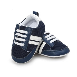 All-season Soft Sports Leather Sneakers for Boys & Girls (0 - 15M) - GoFancy