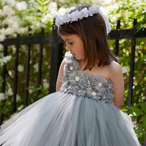 Bridesmaid Floral Fluffy Ball Gown (2 - 7Y)