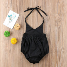 Load image into Gallery viewer, The Solid Black Plain Romper (0 - 12 M)