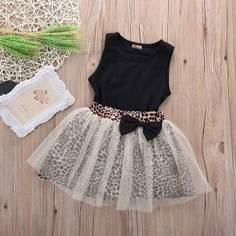 Leopard Bow Skirt + Top (1 - 5Y)