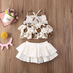 Load image into Gallery viewer, Age Range: 3-18m - Sling Romper + Ruffle Skirt