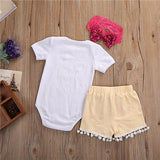 3 Pieces Rompers for Baby Girls (0-24 M) - GoFancy